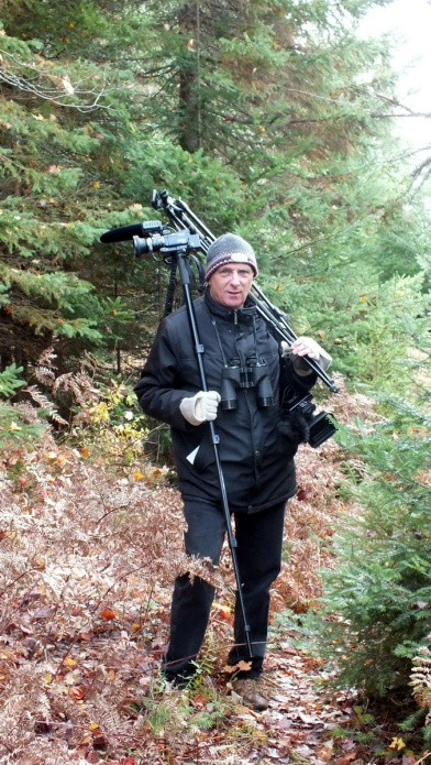 bob hilscher filming along the oxtongue, ontario, canada, truenorthfilmproductions