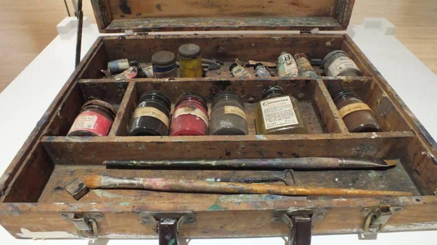 Frederick Varley's paint box, Varley Art Gallery of Markham, Ontario