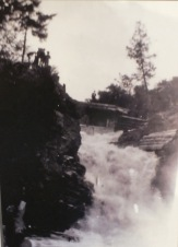 Old photograph of High Falls on the Oxtongue River