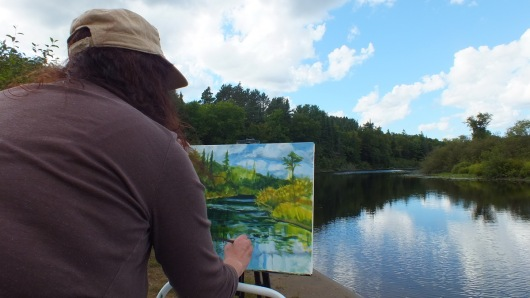 Janine Marson painting in the world of A.J. Casson