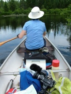 jean canoeing on the oxtongue river, ontario, canada, truenorthfilmproductions