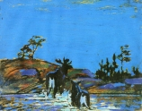 Moose at Night - by Tom Thomson