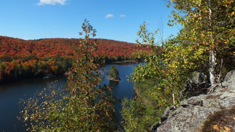 Fall Colors around Patterson's Bay on Oxtongue Lake