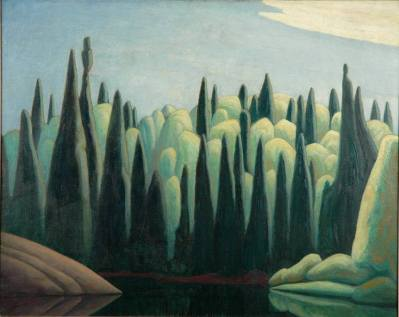 spring on the oxtongue river, lawren harris, group of seven