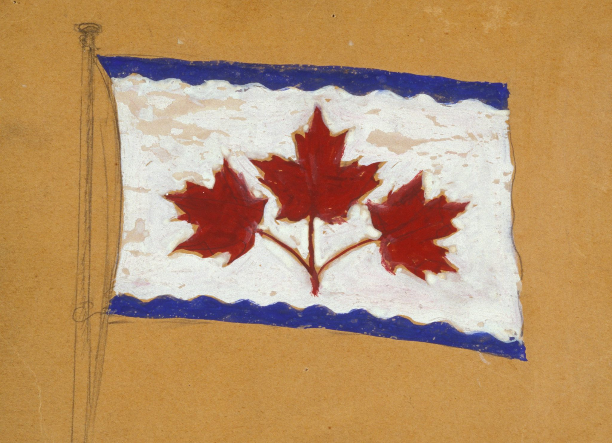oxtongue river and the canadian flag debate painting the