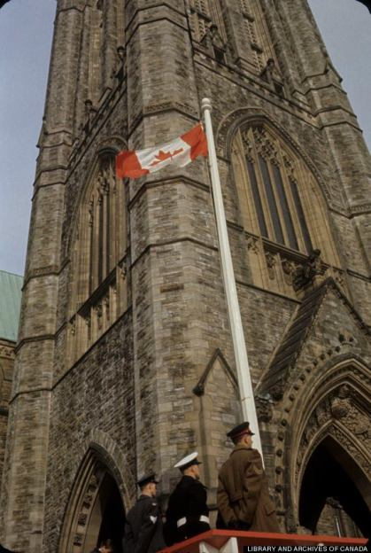 canadian flag first official appearance in ottawa on feb 15, 1965